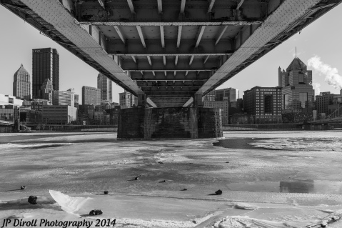 The ice under the bridge reminds me of a scene in Dark Knight Rises.