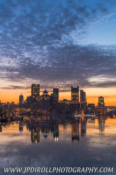 Blue Hour Burgh Pittsburgh Skyline Reflection Blog