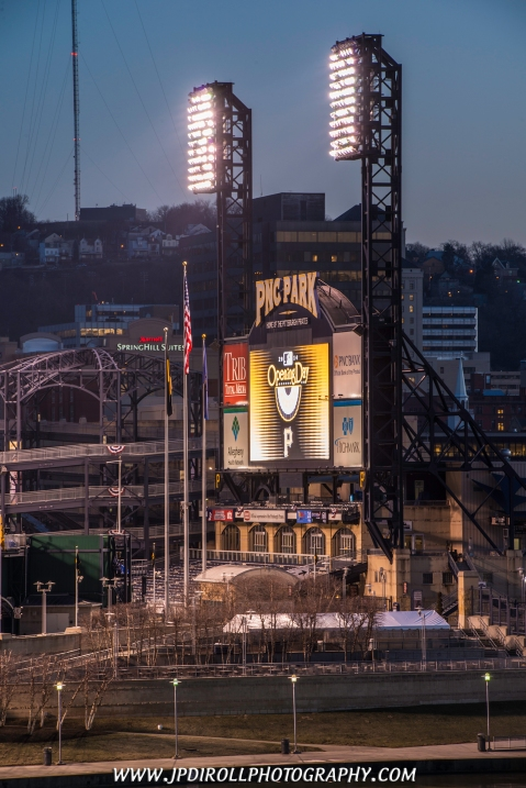 Opening Day Pirates Scoreboard MLB