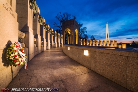 Dawns Early Light World War II Memorial DC Washington BLOG