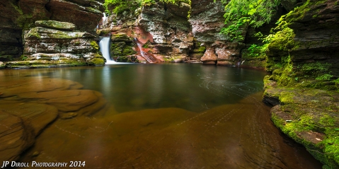 """Below the """"real"""" Adams Falls is a slightly less interesting, albeit beautiful cascade and large pool."""