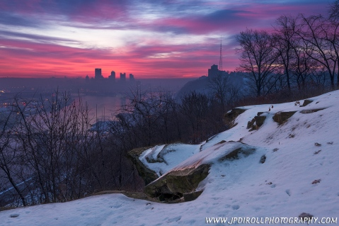 """7. """"Distant Peaks"""" from the West End Overlook provides the best of both worlds, cityscape and  landscape scenery."""