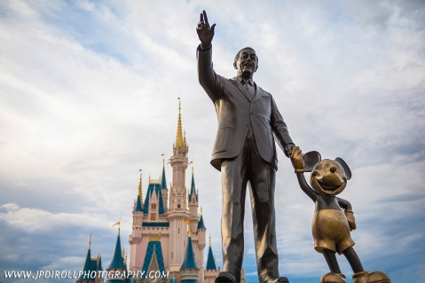 Reach for Sky Disney World Magic Kingdom Partners Statue blog