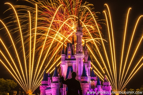 """5. """"Walt's Wish"""" is taken at Walt Disney World...as though that needed to be explained.  My wish for some time was to be able to photograph the nightly fireworks at Disney and I got to do so a few times this year.  This is my favorite."""