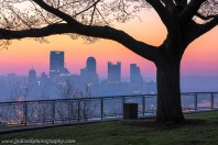 Cloudless Colorful Pittsburgh West End Sunrise Overlook blog