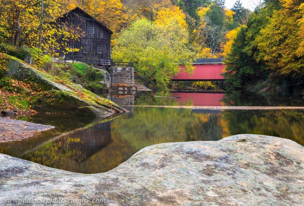 McConnells Mill Autumn Fall Reflection Briddge Rock blog