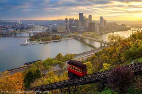 The Usual Haunt Pittsburgh Incline Fall Autum Sunrise blog
