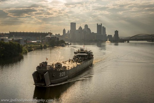 1. This photo is my crown jewel of the year.  The USS LST 325 is a WWII ship that spent some time here over the summer.  I knew when and where it would depart, so I camped out on the West End Bridge.  I was the only photographer there, so I'm the only one with this shot.  And it went viral.  What a feeling.