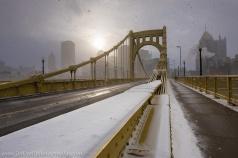Bi-Polar Pittsburgh Winter Sunrise North Shore Clemente Bridge blog