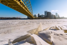 Ice Under Bridge Frozen River Pittsburgh Winter blog