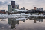 Pittsbrrrgh Pittsburgh Sunset Ice Reflection Frozen River blog