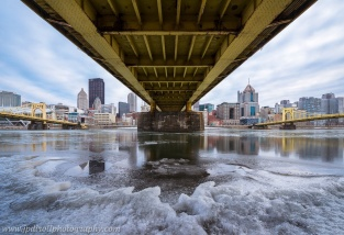 Under the Bridge Pittsburgh Frozen North Shore Winter blog