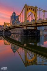 Clemente Crossing Bridge North Shore Pittsburgh Sunrise BLOG