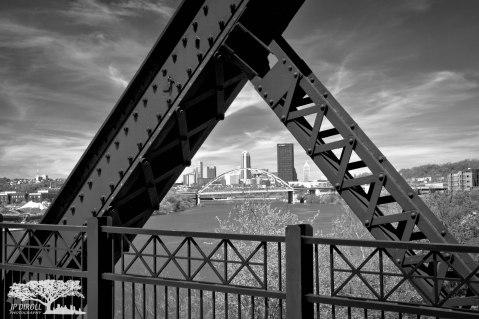 Iron Triangles Hot Metal Bridge Pittsburgh Black and White c web srgb